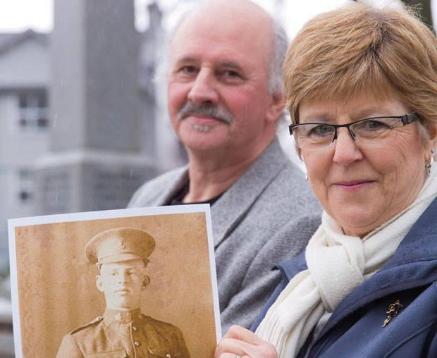 Producer Kathy Cuthbert and director Cliff Caprani are the driving forces behind Countdown to Sanctuary Wood, which tells the story of Ladner soldier Sidney Rich who was killed during the First World War.