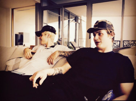 Justin Bieber and Jake Virtanen