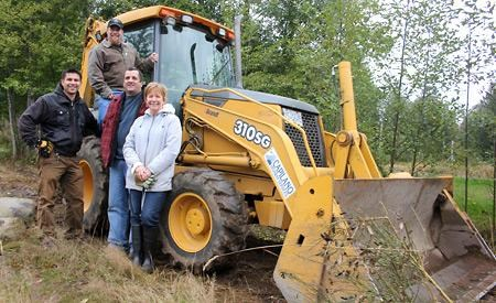 Volunteers pitch in to build trail