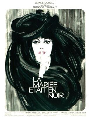 Poster for Francois Truffaut's The Bride Wore Black.