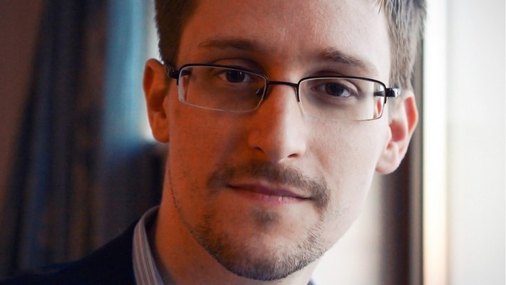 Edward Snowden appeared in front of a Vancouver crowd via live-stream April 5. Photo: Submitted