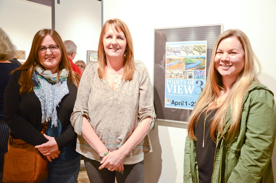 Alison Newth, Shelley Kurvers and Diane Hofmann were three of the artists with work in the Flying Colours Artists' Association exhibition, Points of View 3, at Peace Gallery North.