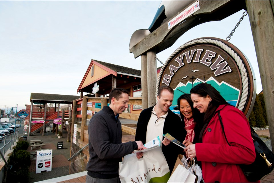 Steveston is one of Richmond's go-to destinations for tourists. The majority (53 per cent) of overnight visitors are Canadian, while about one-quarter are Americans. Overseas visitors account for another quarter. Photo by Tourism Richmond.