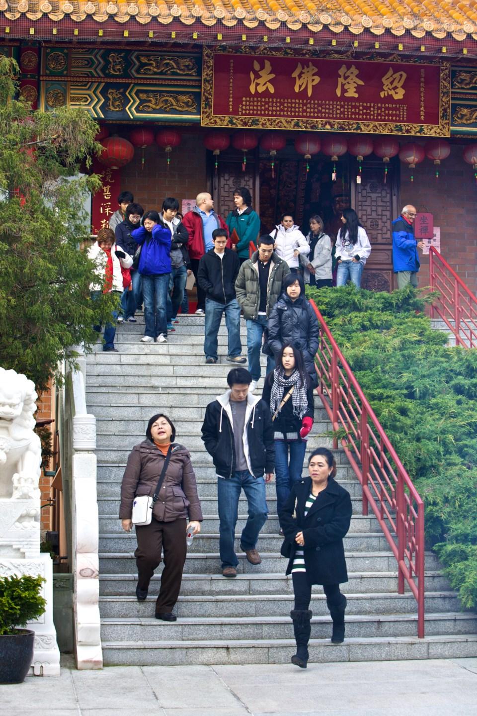 Temple visitors Buddhist