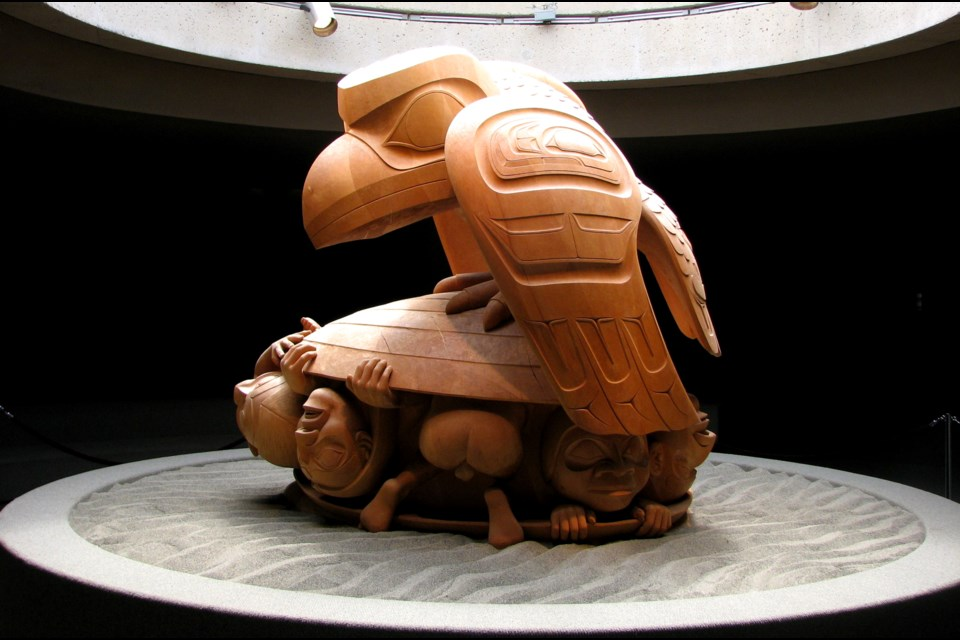 Bill Reid's The Raven and the First Men (1980) at UBC's Museum of Anthropology.