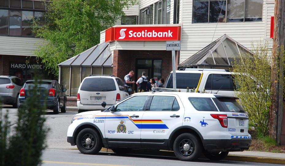 Sunshine Coast RCMP responded to a bank robbery on Teredo Street on April 28.