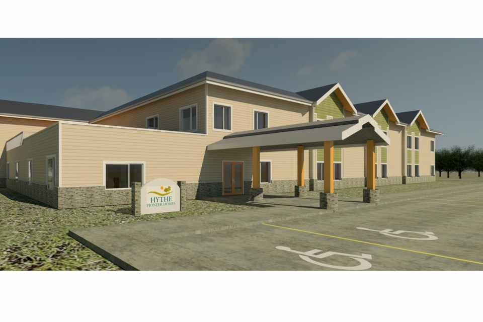 Ladacor, a Calgary company, has joined with Atira Women's Resource Society to submit a bid to build modular housing on city property. Pictured is an example of a modular seniors' building the company built in Alberta. Four other companies are competing to build projects. Photo courtesy Ladacor