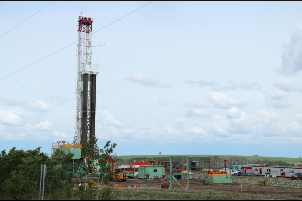 A drilling rig near Dawson Creek. The OGC is stepping up seismic monitoring after a series of small but high-profile earthquakes last year that were caused by fracking.