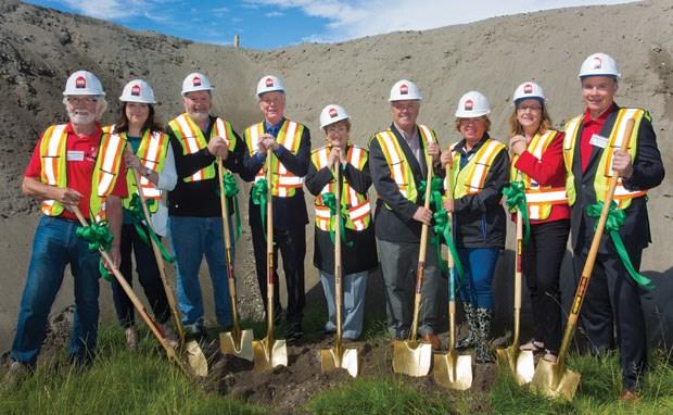 Dignitaries, including Mayor Lois Jackson and MLA Scott Hamilton, were on hand last Thursday for a groundbreaking ceremony.