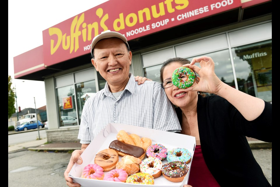 Tony Chhuon and Paula Sim came to Vancouver to start a new life with recipes from different parts of the world — doughnuts, but also food from L.A.'s inhabitants from south of the U.S. In 1987, they pooled their savings and bought Duffin's Donuts on Main and 33rd. They've since relocated to Knight and 41st.