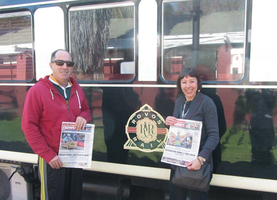 William and Lorraine Katzin take the North Shore News on a train trip from Cape Town to Dar es Salaam.