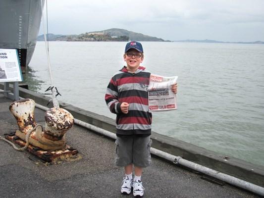 Dylan McBride takes the North Shore News to Alcatraz in San Francisco.