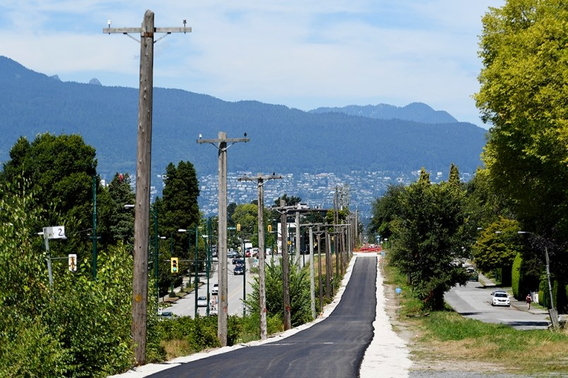 Part of Arbutus Greenway has been paved with asphalt. Photo Jennifer Gauthier