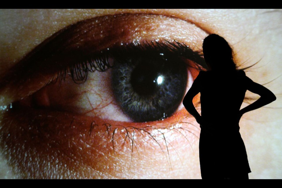 Surface Tension, by Rafael Lozano-Hemmer, is part of the new WITNESS exhibition at New Media Gallery.