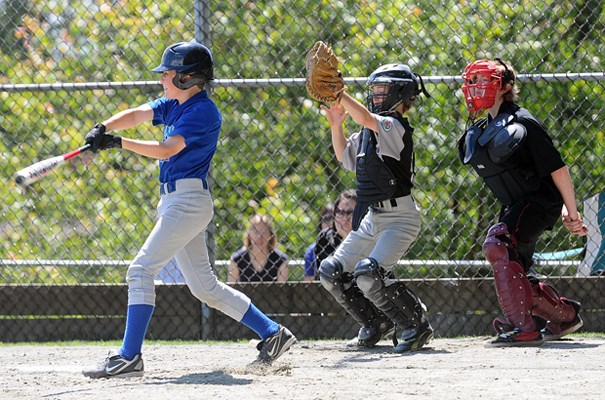 The all stars baseball play at Delbrook field.