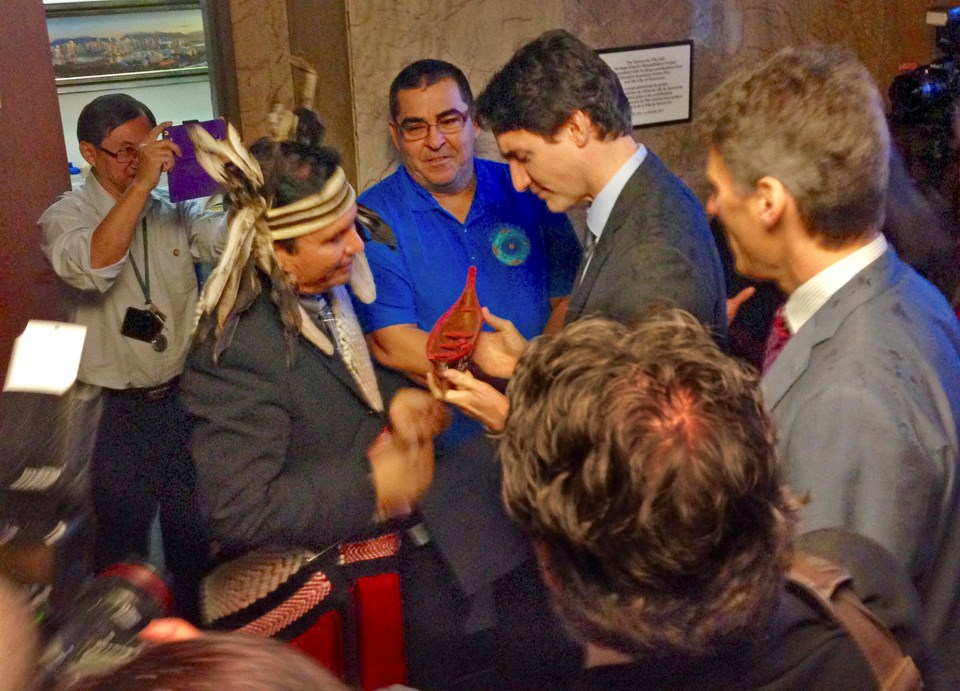 Squamish Chief Ian Campbell and Musqueam Chief Wayne Sparrow