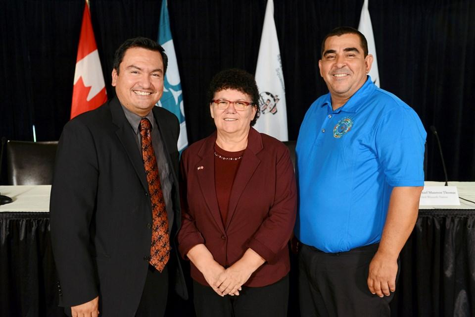 Squamish Chief Ian Campbell, Tsleil-Waututh Chief Maureen Thomas, Musqueam Chief Wayne Sparrow decid