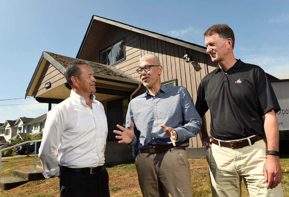 Operations manager Jay Mearns (l), CEO Stephen Lee and vice president of real estate Doug Avis head