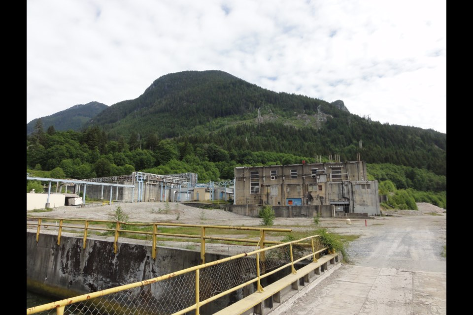 Hydroelectric generating station at the Woodfibre site.