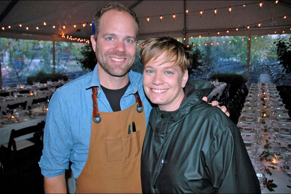 Homer Street Café's Tret Jordan and Burdock and Co.'s Andrea Carlson were among the city's top chefs who participated in Sole Food Farm's An Evening in the Orchard event at Main Street and Terminal.