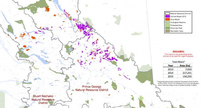 spruce beetle map