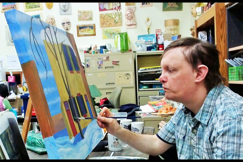Dan Tell of Burnaby is one of the artists featured in the upcoming Inclusion Art Show.