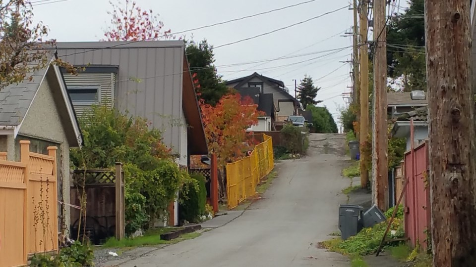 As more laneway houses are built, we can expect the appearance of lanes to improve. Photo Michael Ge