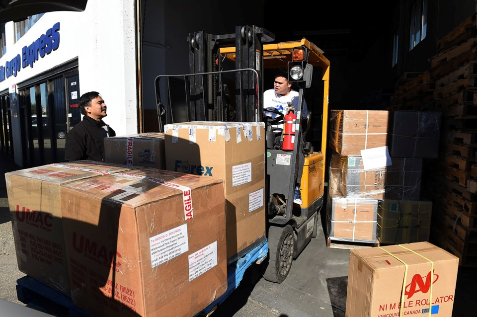 About 1,500 boxes arrive each month. Cost is calculated per box — between $60 and $120 — depending o