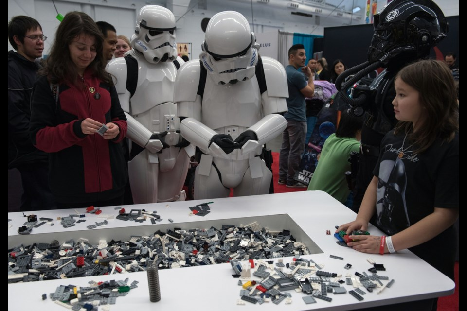 The age-old question of what Stormtroopers do on their break was answered at last weekend's Fan Expo Vancouver. The answer: play with Star Wars Lego. Read story here.