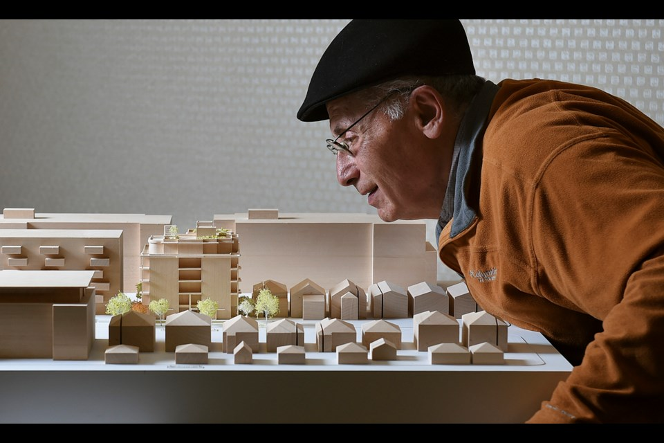"""Jack Brondwin, a member of Little Mountain Cohousing, is """"ecstatic"""" about progress on a project to build a six-storey cohousing complex in the Riley Park neighbourhood. If all goes to plan, residents could move in by the spring of 2019. Photo Dan Toulgoet"""