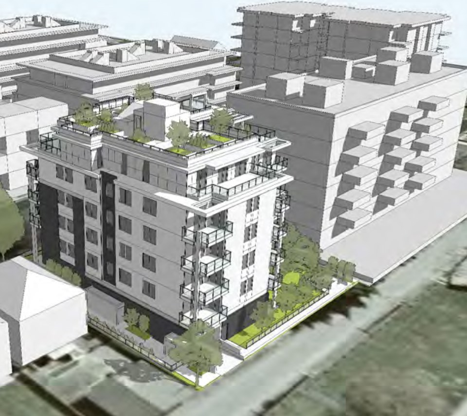 Aerial view from the northwest. Rendering Cornerstone Architecture