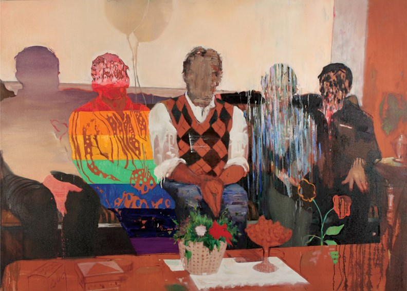 Justin Ogilvie's painting Siblings will be part of the next group show at the Gibsons Public Art Gallery.