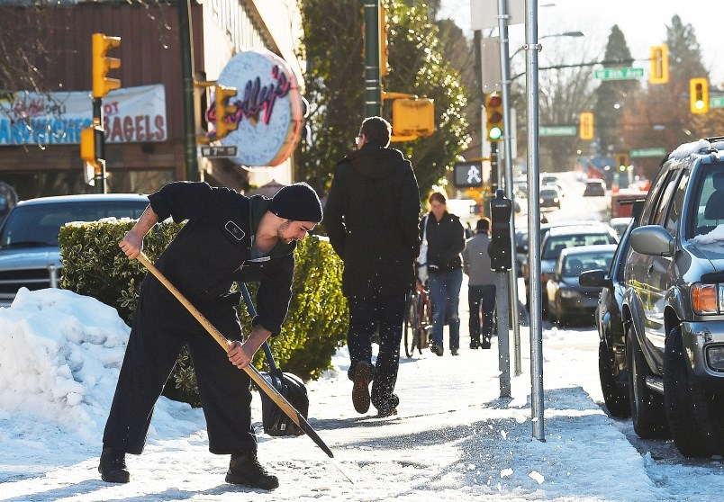 The city's 311 line was flooded with calls of complaints about perilously icy sidewalks. Photo Dan T