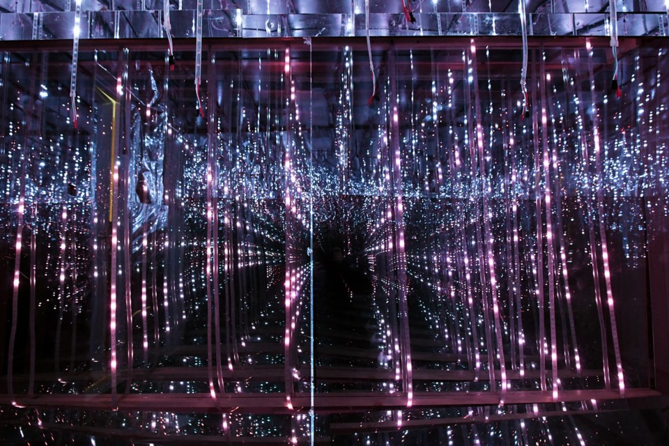 Ron Simmer's infinity room, A Night Walk in Falling Snow, was a popular draw during last year's Luminescence exhibition at Deer Lake Gallery. The Burnaby Arts Council is calling for artists to take part in this year's Luminescence 2, running March 18 to April 8.