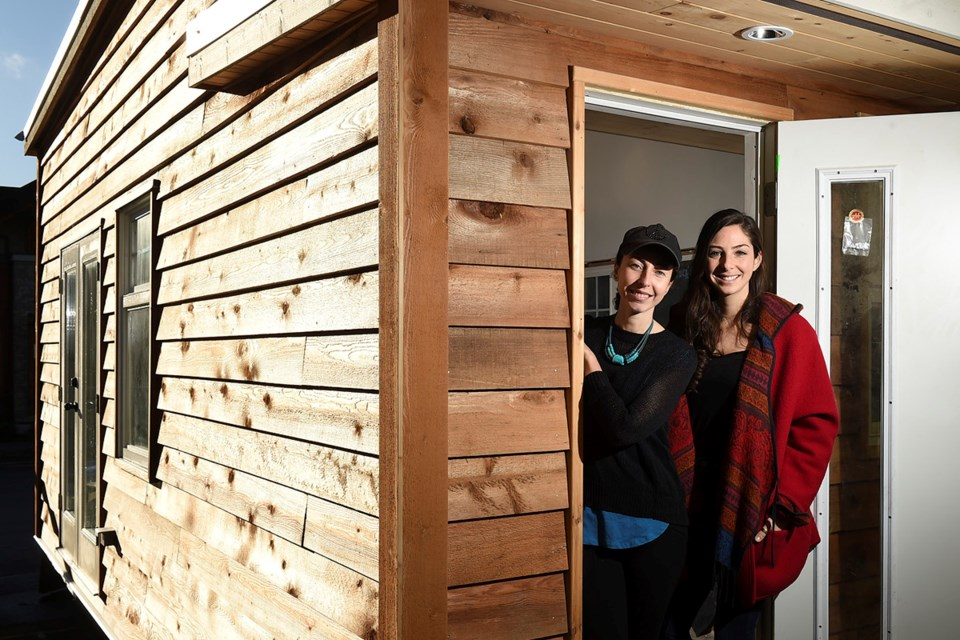 Anastasia Koulalianos and Samantha Gambling have big ideas for tiny houses in Vancouver. Photo Dan Toulgoet