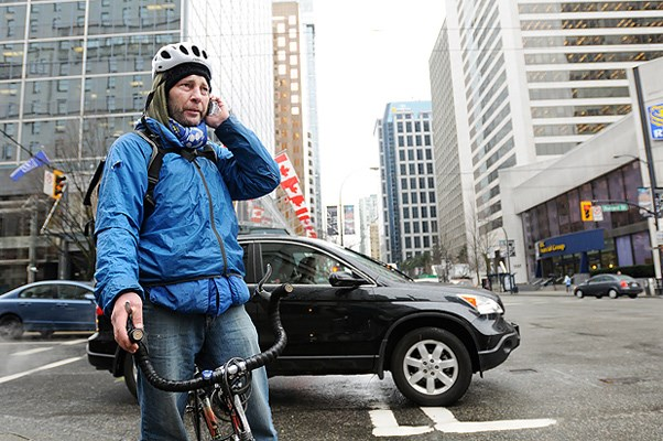 Teyan Adams has been a bike courier for 10 years.