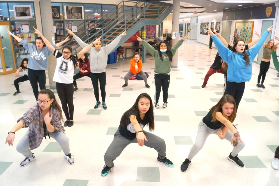 McRoberts secondary choreographer Rhea Casido says the audience is in for a thrill when the school's 'mega crew' leaps into action during their Education Week set. Photo by Graeme Wood/Richmond News