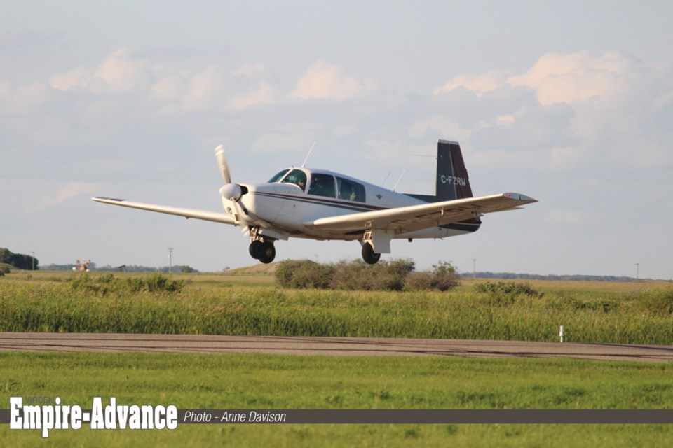 Virden's municipal airport is a busy place