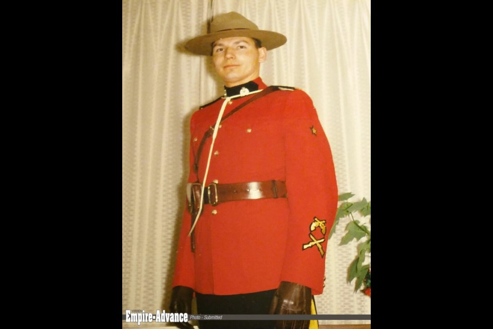 Const. Tony Cooper in his red serge as a young RCMP officer.