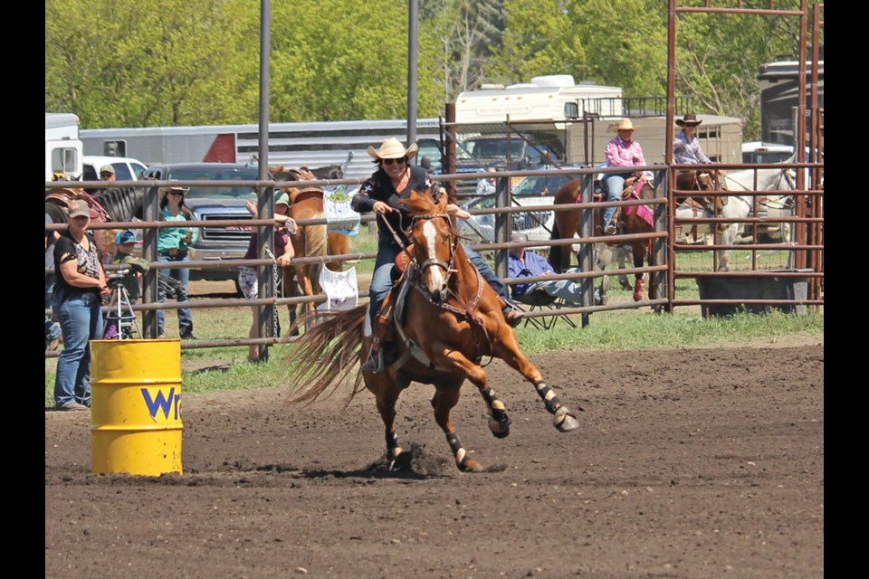 Barrel racing last weekend at the Virden Fairgrounds saw nearly 250 competitors of all ages.