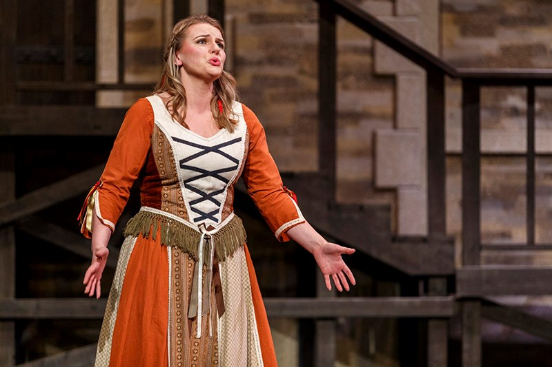 Jayne Hammond performs in a recent production of Yeomen of the Guard with the Gilbert and Sullivan S