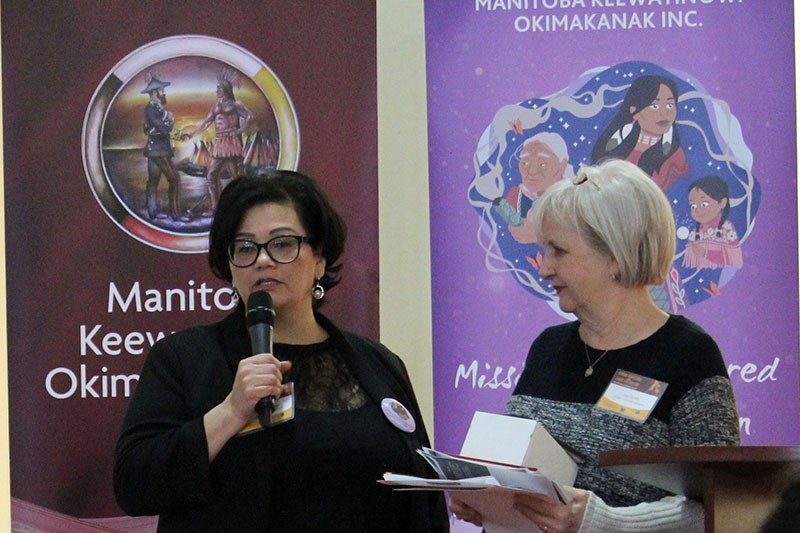 Host Hilda Anderson-Pyrz (left) and speaker Joy Smith (right) closed out the first day of Manitoba K