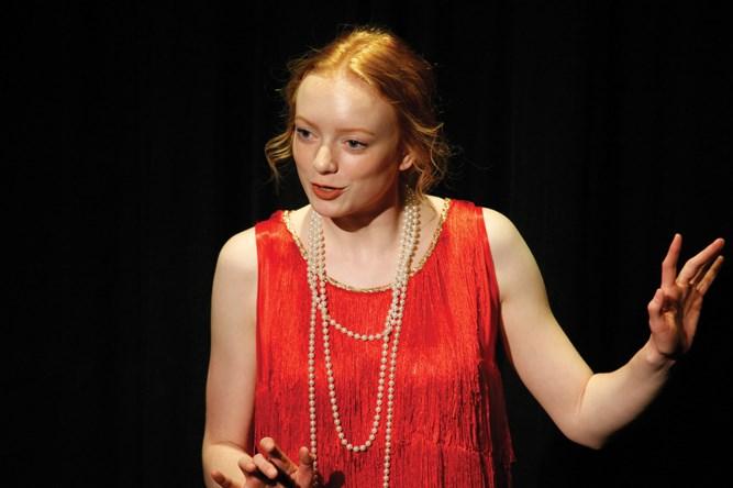 Grade 12 student Emily Cochrane performing a monologue.