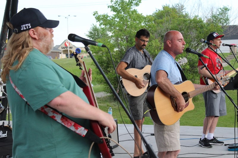 The Average Joes closed out the July 24 Concert in the Park with a variety of rock and country covers from Bruce Springsteen, the Eagles and Old Crow Medicine Show.