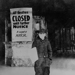 Images of the social / economic impact of the influenza epidemic in the early part of the 20th.