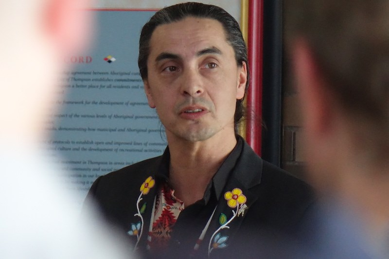 Assembly of Manitoba Chiefs Grand Chief Arlen Dumas, seen here in Thompson March 2, says that three