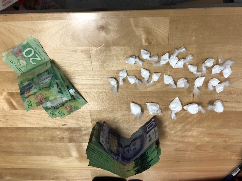 Thompson RCMP seized 32 grams of cocaine and about $2,000 during a July 29 traffic stop that resulte
