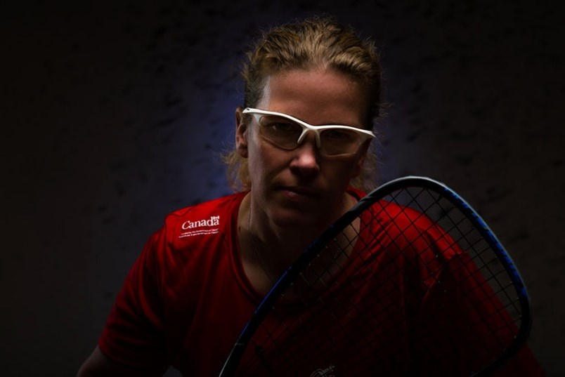 Thompson born and raised racquetball player Jennifer Saunders, who retired from competition last Dec