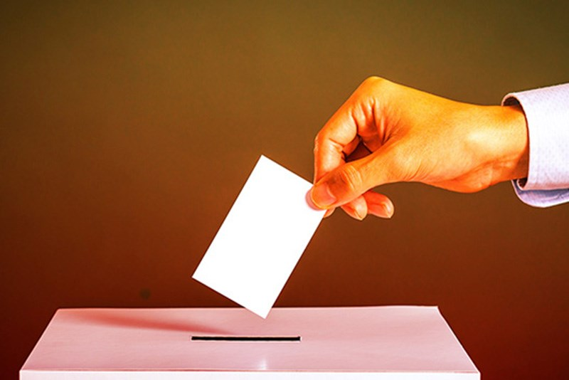stock ballot box voting