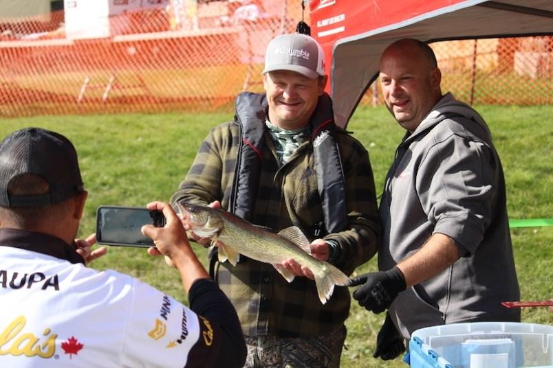 Daryl Murphy, who was half of the winning team at the 2019 Kickerfish Northern Manitoba Walleye Cham